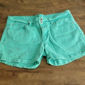 Levis Denizen denim teal shorts sz 10 [369]